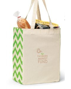 Natural & Apple Green Origins Cotton Market Tote