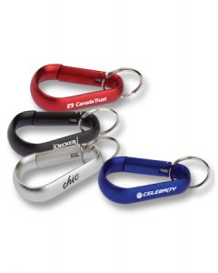Wide Carabiner with Split Ring