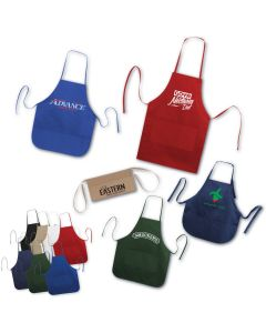 "Brand Gear Handy Apron / Twill Bib Apron with Rounded Bottom (20""x30"")"