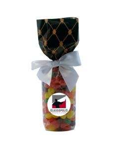 Black Diamonds Mug Stuffer Gift Bag with Jelly Beans
