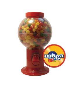 Red Gumball Machine Filled with Jelly Beans