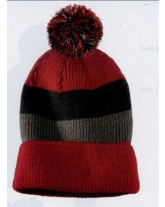 District Vintage Striped Beanie w/ Removable Pom
