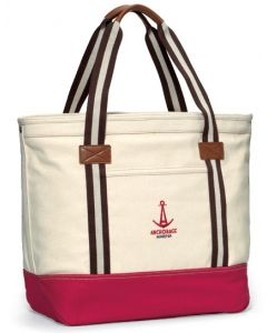 Heritage Supply Catalina Cotton Tote Bag w/ Red Bottom