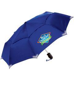 Walksafe Vented Auto Open Compact Umbrella