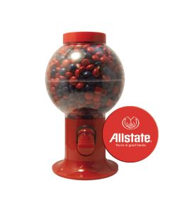 Red Gumball Machine Filled with Chocolate Littles