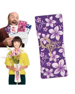 Purple Hawaiian Flower Power Vase