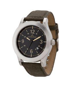 Watch Creations Unisex Watch w/ Black Canvas Straps & Date Display
