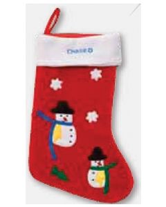 Snowman Christmas Stocking (Decorated in USA 3-5 Day Delivery)