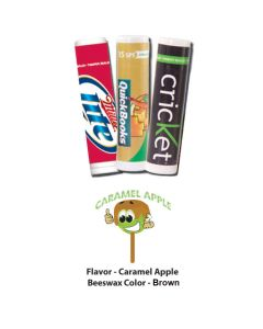 Caramel Apple Premium Lip Balm in White Tube