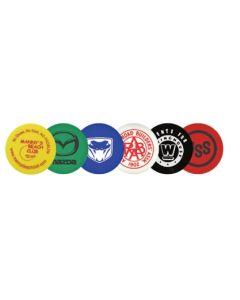 Plastic Token w/ Wooden Nickel Indian Head Stock Logo (Spot Color)
