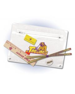 Premium Translucent School Kit w/ 2 Pencils, Ruler, Eraser & Sharpener