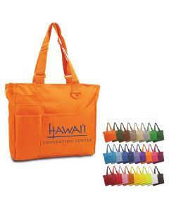 "Brand Gear Hawaii Deluxe Polyester PVC Tote Bag (15""x13""x4"")"