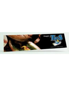 "Offset Full Color Vinyl Zip Strip Bumper Sticker (3 3/4""x15"")"