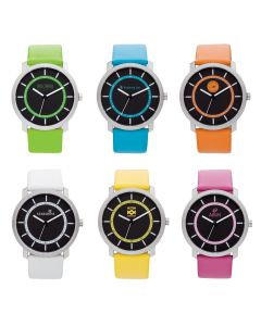 Watch Creations Unisex Fashion Watch w/ Color Leather Straps
