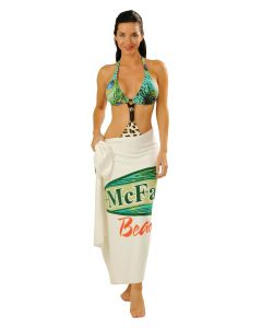 "Mid-weight Terry Velour Beach Towel - Printed (35""x68"")"