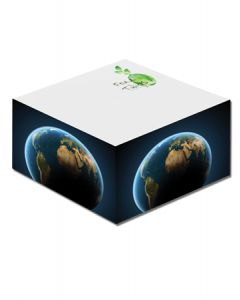 "Half Cube Earth Friendly Adhesive Notepads (3""x3"")"