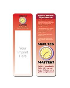 Heart Attack Systems Stock Full Color Digital Printed Bookmark