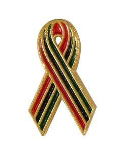 African American AIDS Awareness Ribbon Lapel Pin