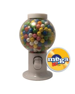 White Gumball Machine Filled with Gumballs
