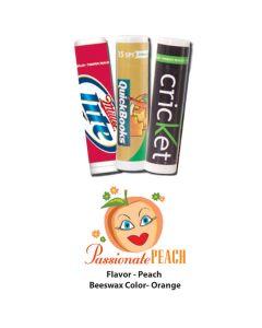 Passionate Peach Premium Lip Balm in White Tube