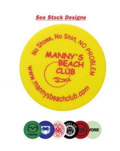 Plastic Token w/ Clown Face Wooden Nickel Stock Logo (Spot Color)