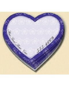 100 Sheet Die Cut Stik-ON Adhesive Note Pad (Heart)