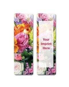 Floral Stock Full Color Digital Printed Bookmark