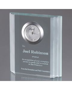 Orville Rectangular Waterfall Edged Clock Award