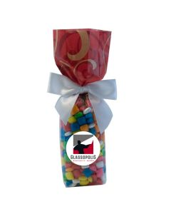 Red Swirl Mug Stuffer Gift Bag with Gum