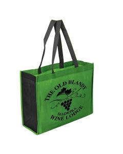 "Two Toned 16"" x 12"" + 6"" Gusseted Tote Bag"