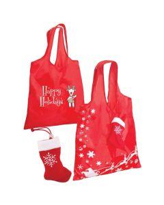 Stocking Folding Tote Bag (Printed)