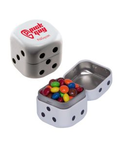 Dice Mint Tin with Chocolate Littles