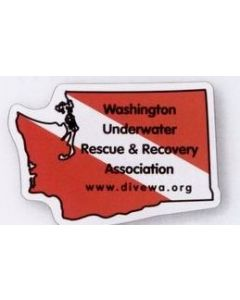 "Washington 0.02"" Thick Vinyl Die Cut Magnet"