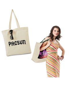 "Brand Gear Bali Natural Canvas Tote Bag w/ 22"" Handles (15""x15 1/2"")"
