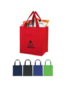 "Custom Matte Laminated Non Woven Shopper Tote Bag (13""x15""x10"")"