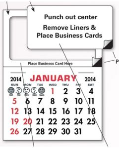Add Your Card Magnet Calendar Pads