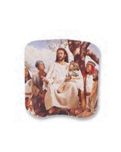Stock Jesus & Children Spiritual Hand Fan