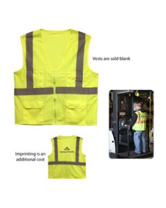 ANSI 2 Safety Vest with Pockets (Direct Import-10 Weeks Ocean)
