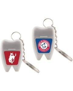 Tooth Shaped Keychain Dental Floss