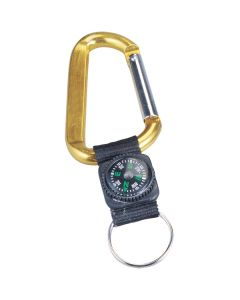 8 MM Carabiner w/ Compass & Key Ring (Blank)