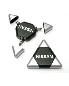 Triangle Shaped Tool Kit with 3 Two Sided Steel Bits