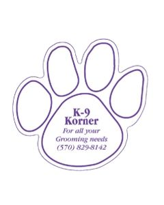 Dog Paw Stock Shape Vinyl Magnet (Spot Color)