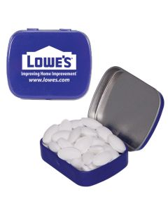 Caffeinated Blue Mint Tin filled with Caffeinated Mints
