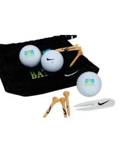 Nike Golf Valuables Pouch 3 Ball Kit - NDX Heat Balls