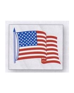 """Clear Static Cling U.S. Flag Static Face Decal (3 1/2""""x4 1/4"""")"""