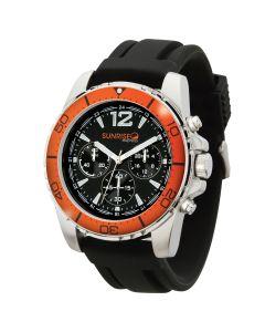 Watch Creations Unisex Orange Rotating Bezel Watch w/ Rubber Strap