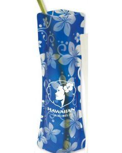 Blue Hawaiian Flower Power Vase