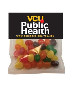 Large Plastic Candy Bag with Header Card & Corporate Jelly Beans