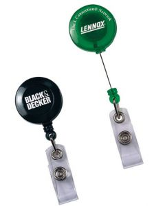 Round Secure-a-Badge Retractable Badge Reel