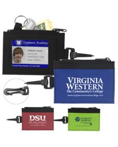 ID Holder and Wallet With Carabiner (Ocean Shipping)